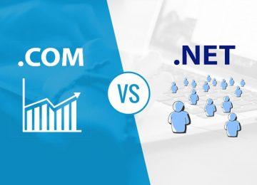 Sự khác biệt giữa tên miền .com và .net